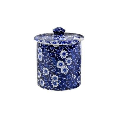 Burleigh Blue Calico Covered Sugar Bowl