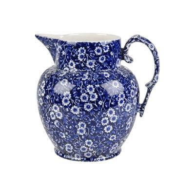 Burleigh Blue Calico Etruscan Jug Large