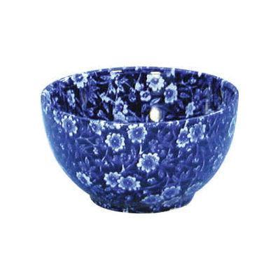 Burleigh Blue Calico Open Sugar Bowl Large