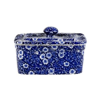 Burleigh Blue Calico Rectangular Butter Dish