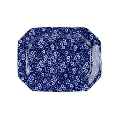 Burleigh Blue Calico Rectangular Platter 34cm