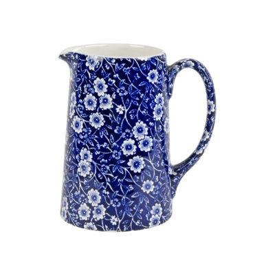 Burleigh Blue Calico Tankard Jug Medium