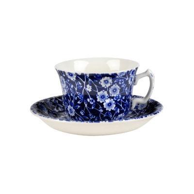 Burleigh Blue Calico Teacup & Saucer