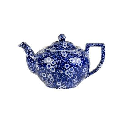 Burleigh Blue Calico Teapot Small