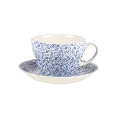 Burleigh Blue Felicity  Breakfast Cup & Saucer