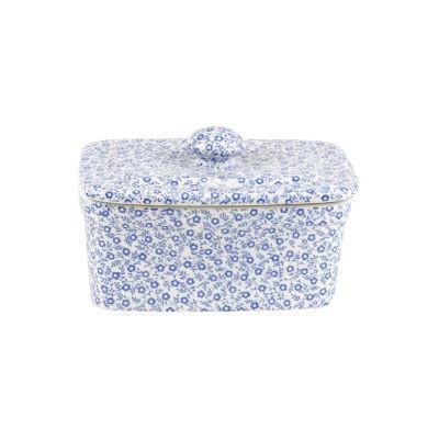 Burleigh Blue Felicity  Rectangular Butter Dish