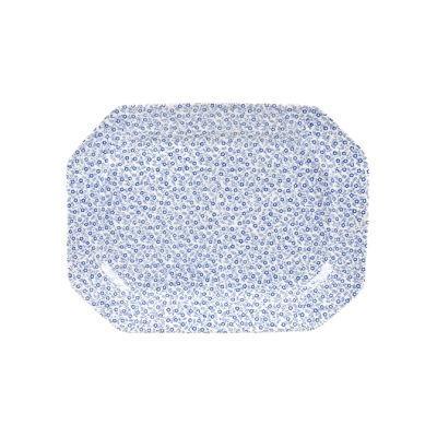 Burleigh Blue Felicity  Rectangular Platter 25cm