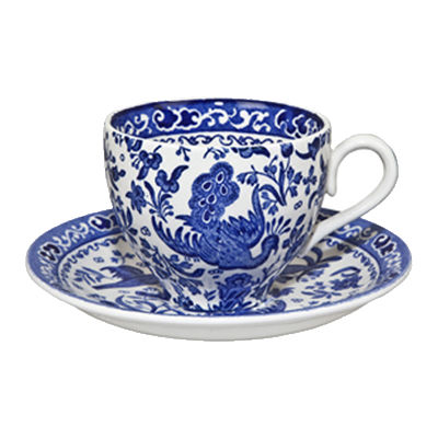 Burleigh Blue Regal Peacock Teacup & Saucer