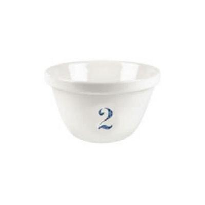 Burleigh Natural White Ironstone Pudding Basin Pale Blue Number 2