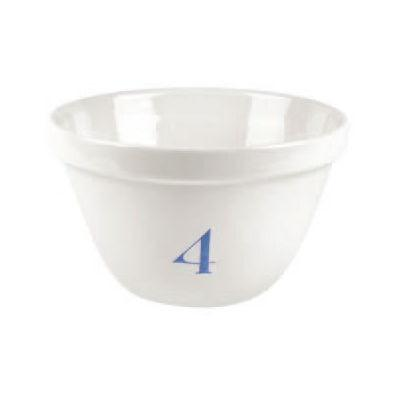 Burleigh Natural White Ironstone Pudding Basin Pale Blue Number 4