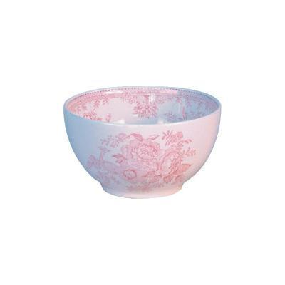 Burleigh Pink Asiatic Pheasants  Open Sugar Bowl Large