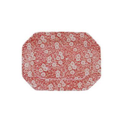 Burleigh Red Calico Rectangular Platter 25cm