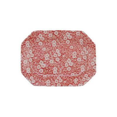 Burleigh Red Calico Rectangular Platter 34cm