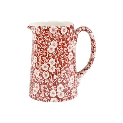 Burleigh Red Calico Tankard Jug Medium