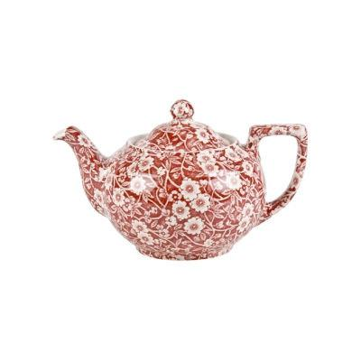 Burleigh Red Calico Teapot Large