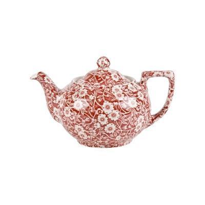 Burleigh Red Calico Teapot Small