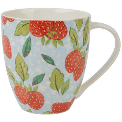 Caravan Trail Caravan Trail Mugs Mug Large Strawberry Harvest Blue