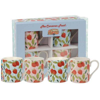 Caravan Trail Caravan Trail Mugs Mug Strawberry Harvest Set of 4