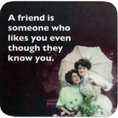 Cath Tate Photocaptions Coasters A Friend Is Someone Who Likes You Coaster