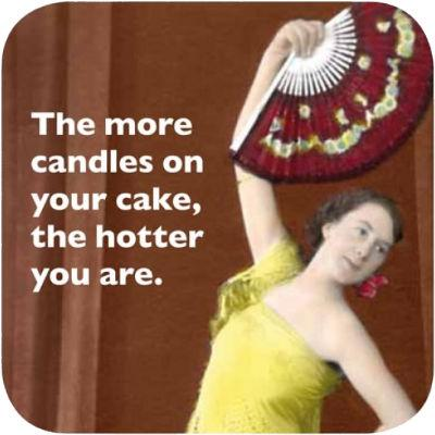 Cath Tate Photocaptions Coasters Candles On Your Cake Coaster