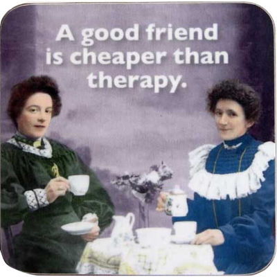 Cath Tate Photocaptions Coasters Cheap Therapy Coaster
