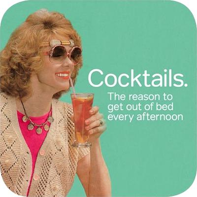 Cath Tate Photocaptions Coasters Cocktails Coaster