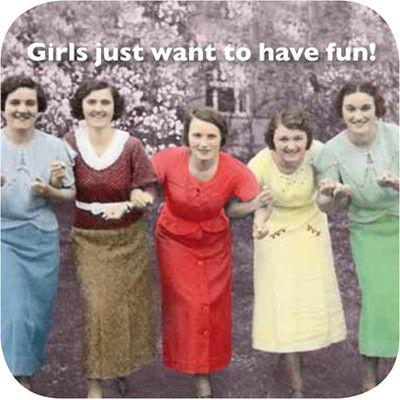 Cath Tate Photocaptions Coasters Girls Just Want Coaster