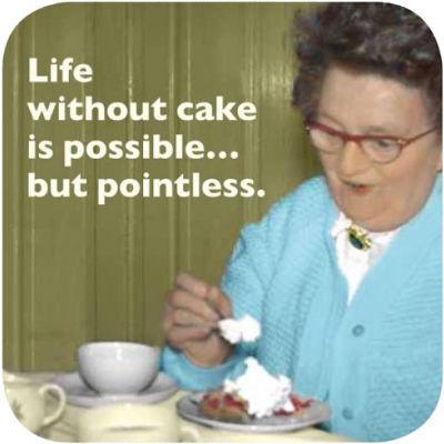 Cath Tate Photocaptions Coasters Life Without Cake Coaster