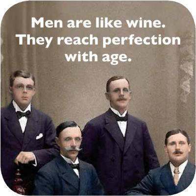 Cath Tate Photocaptions Coasters Men Are Like Wine Coaster
