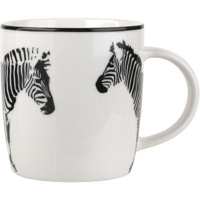 Catherine Lansfield Barrel Mug Funky Zebra Black