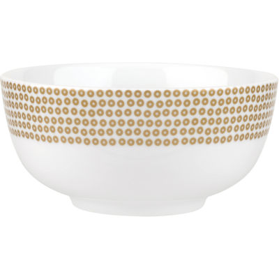 Catherine Lansfield Cereal Bowl 15cm Glamour Sequin Gold