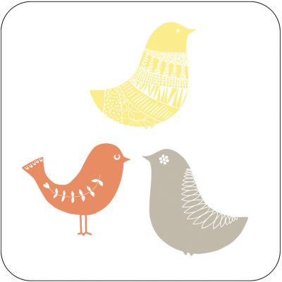 Catherine Lansfield Coaster Set of 4 Scandi Birds