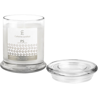 Catherine Lansfield Wax Filled Jar Candle Glamour Sequin Silver