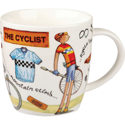 Churchill At Your Leisure Mug Cyclist
