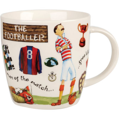 Churchill At Your Leisure Mug Footballer
