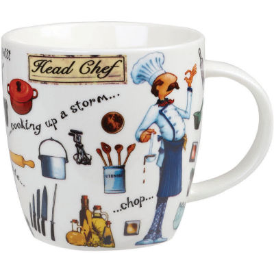 Churchill At Your Leisure Mug Head Chef