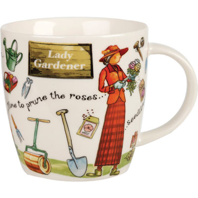 Churchill At Your Leisure Mug Lady Gardener