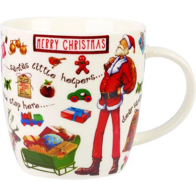 Churchill At Your Leisure Mug Merry Christmas Santa