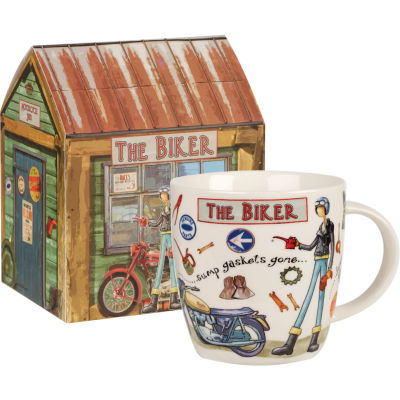 Churchill At Your Leisure Mug The Biker