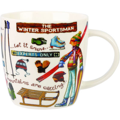Churchill At Your Leisure Mug The Winter Sportsman