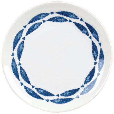 Churchill Aura Salad Plate 20cm Fishie Border