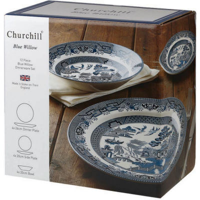 Churchill Blue Willow 12-Piece Set