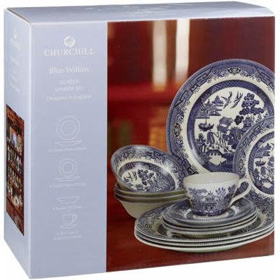 Churchill Blue Willow 20-Piece Set
