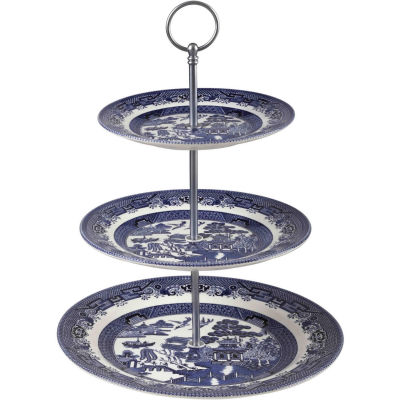 Churchill Blue Willow 3-Tier Cake Stand
