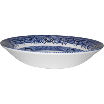 Churchill Blue Willow Coupe Soup Bowl 20cm