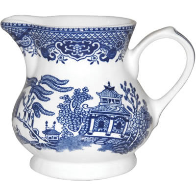 Churchill Blue Willow Cream Jug