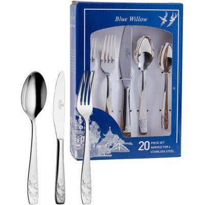 Churchill Blue Willow Cutlery Set 20-Piece