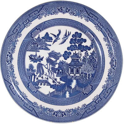 Churchill Blue Willow Dinner Plate 26cm