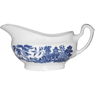 Churchill Blue Willow Gravy Boat
