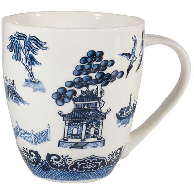 Churchill Blue Willow Large Mug Willow White